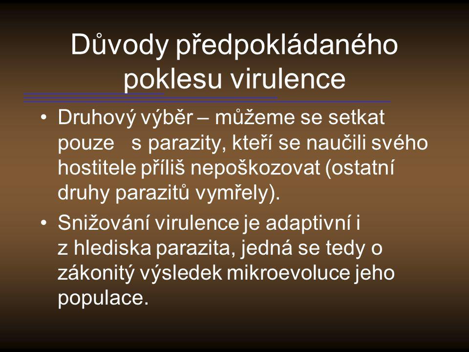 Důvody předpokládaného poklesu virulence