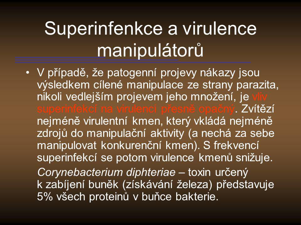 Superinfenkce a virulence manipulátorů