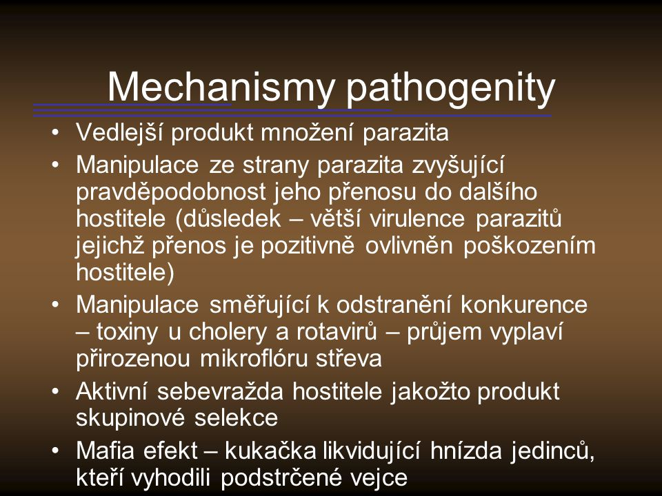 Mechanismy pathogenity