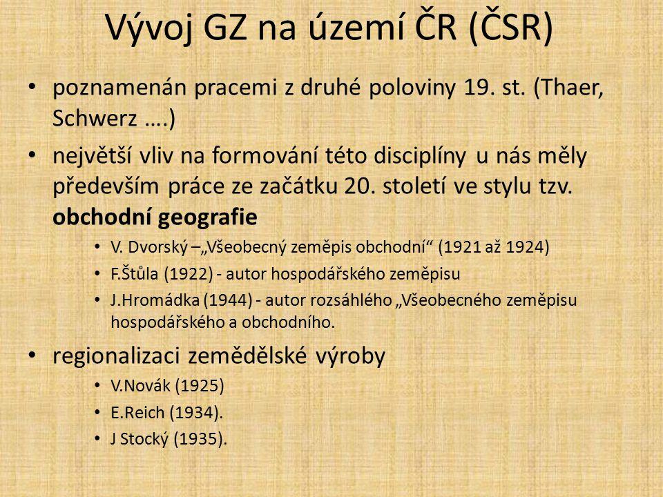Vývoj GZ na území ČR (ČSR)