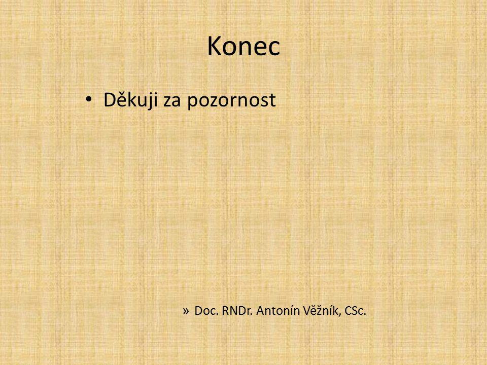 Konec Děkuji za pozornost Doc. RNDr. Antonín Věžník, CSc.