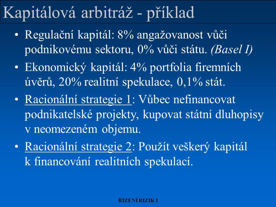 Kapitálová arbitráž - příklad