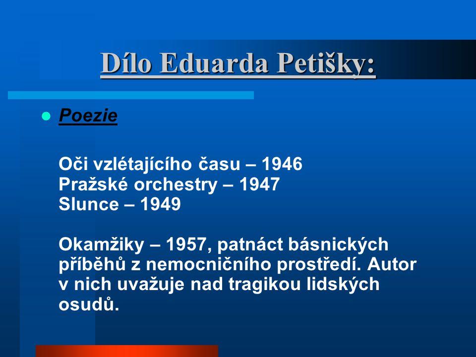 Dílo Eduarda Petišky: Poezie