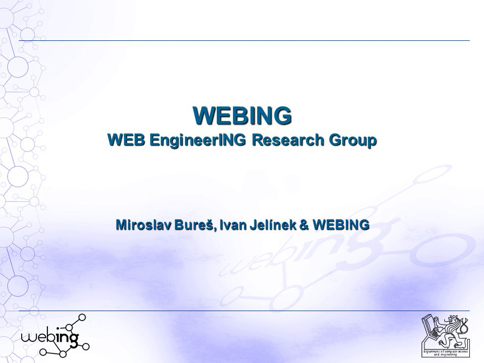 WEBING WEB EngineerING Research Group