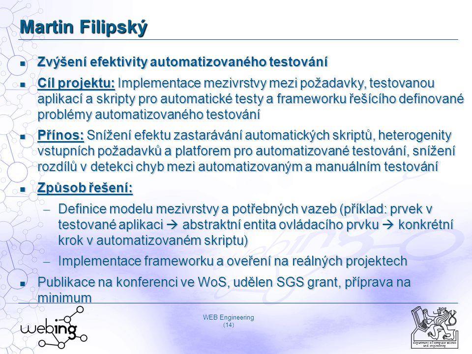 Martin Filipský Zvýšení efektivity automatizovaného testování
