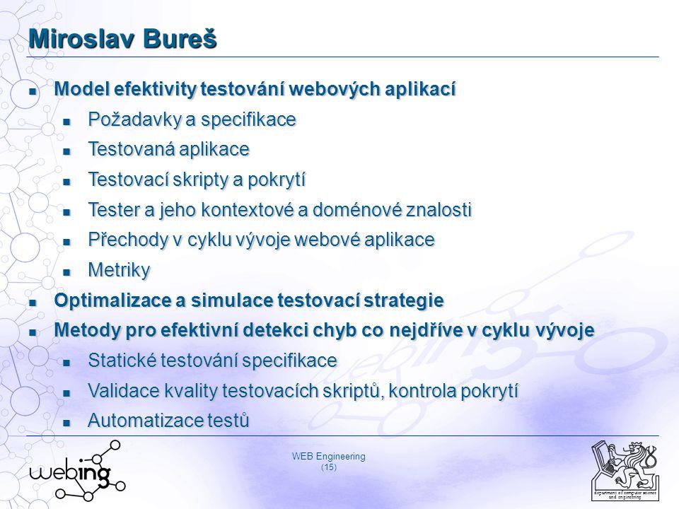 Miroslav Bureš Model efektivity testování webových aplikací