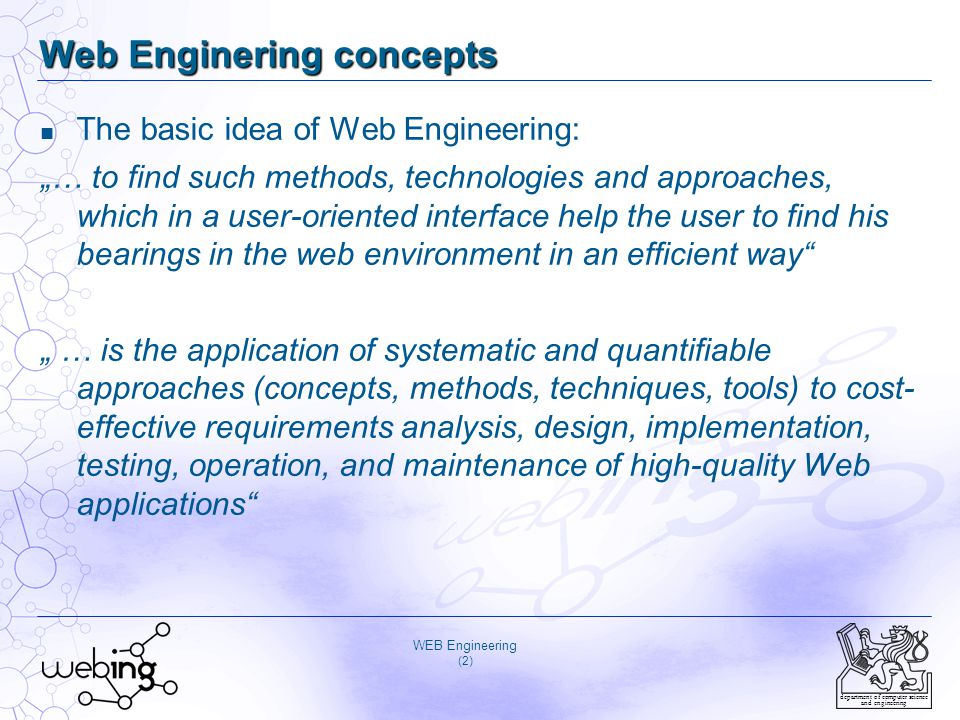 Web Enginering concepts
