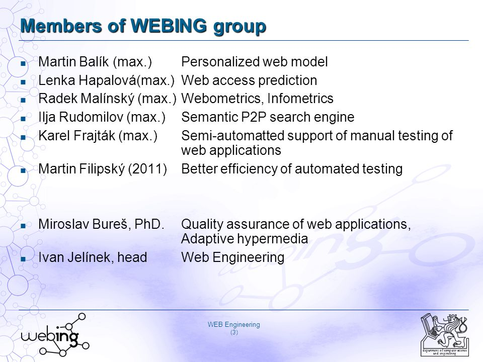 Members of WEBING group