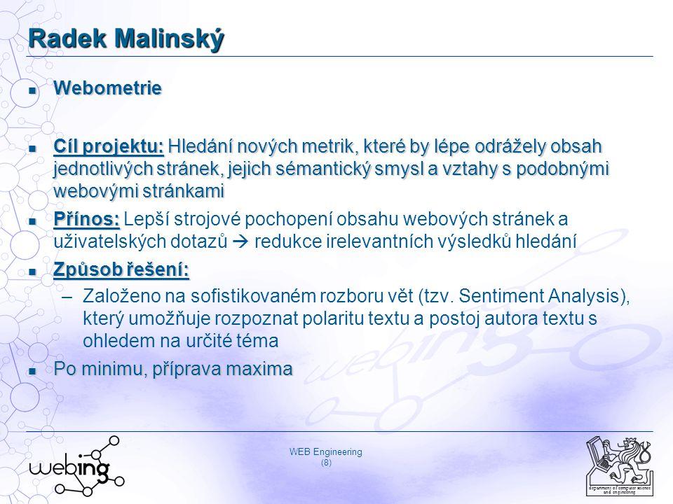 Radek Malinský Webometrie