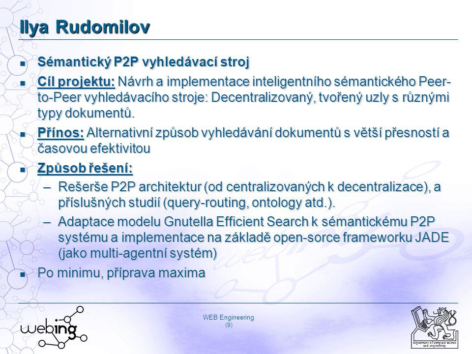 Ilya Rudomilov Sémantický P2P vyhledávací stroj