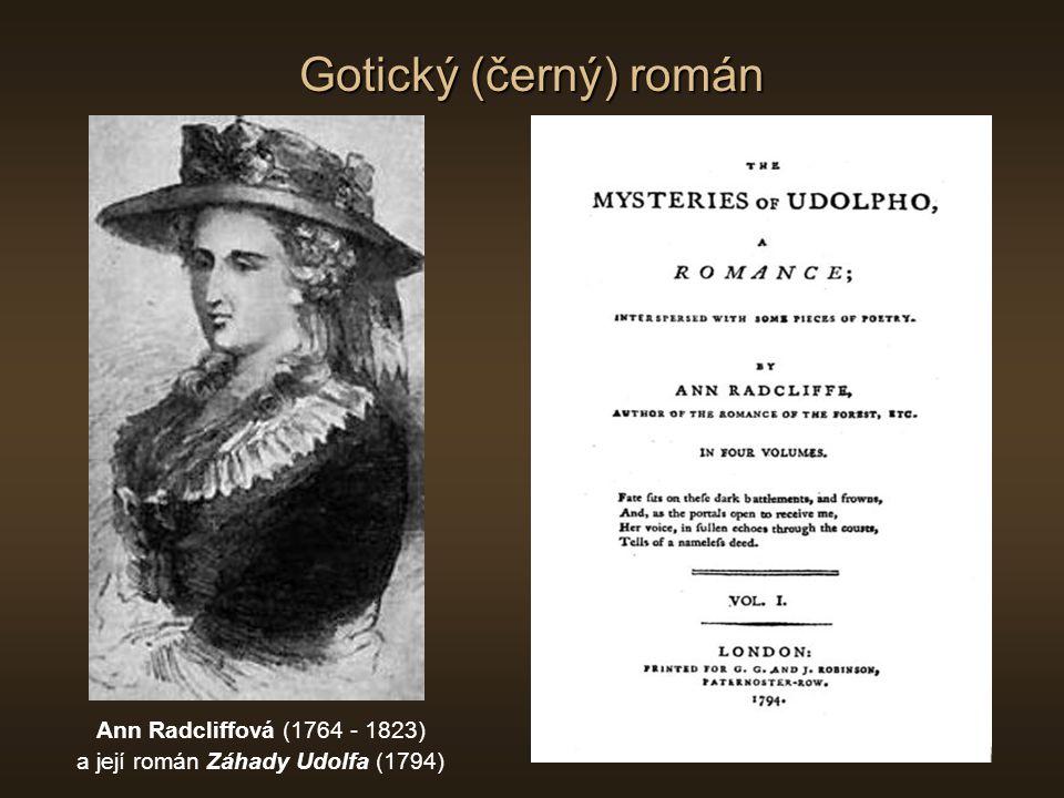 a její román Záhady Udolfa (1794)