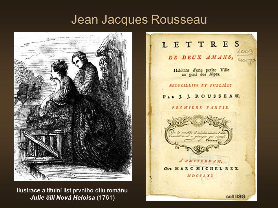 Jean Jacques Rousseau Ilustrace a titulní list prvního dílu románu