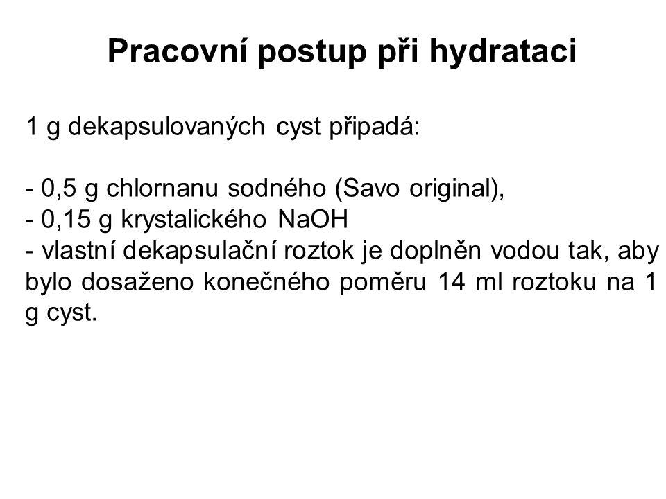 Pracovní postup při hydrataci