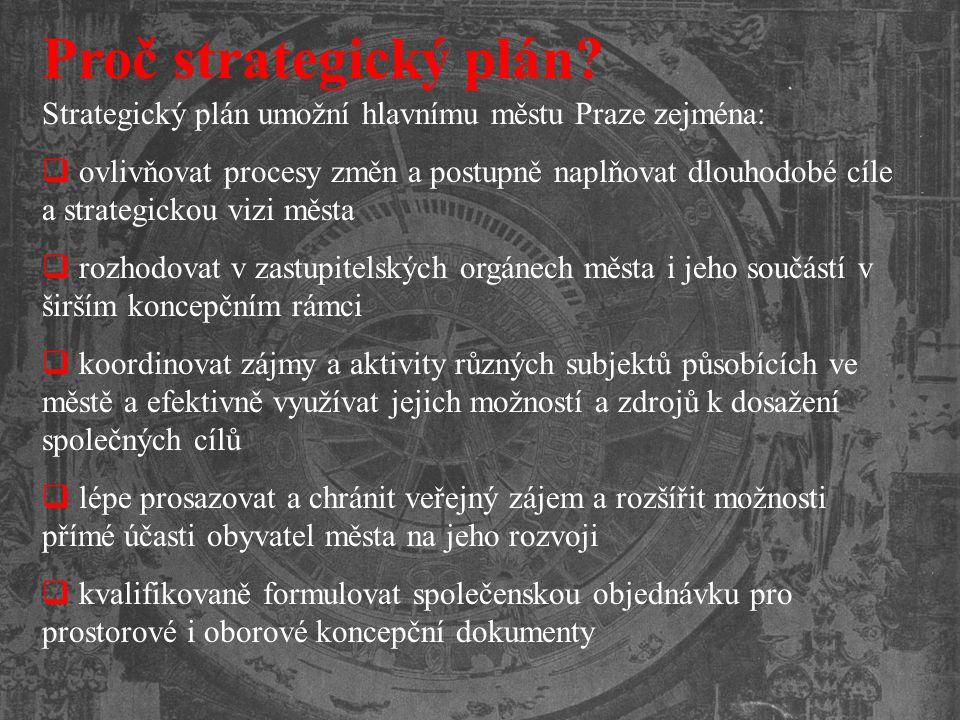 Proč strategický plán Strategický plán umožní hlavnímu městu Praze zejména: