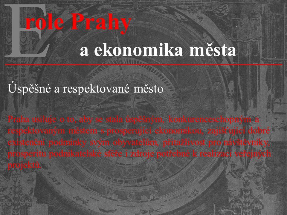 E role Prahy a ekonomika města Úspěšné a respektované město