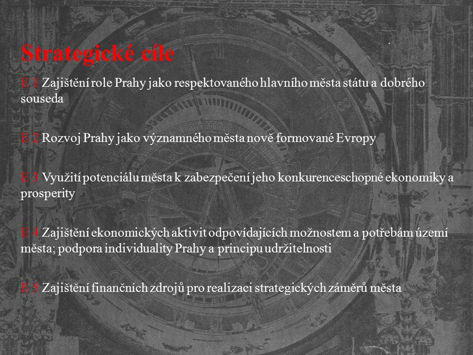 Strategické cíle E 1 Zajištění role Prahy jako respektovaného hlavního města státu a dobrého souseda.