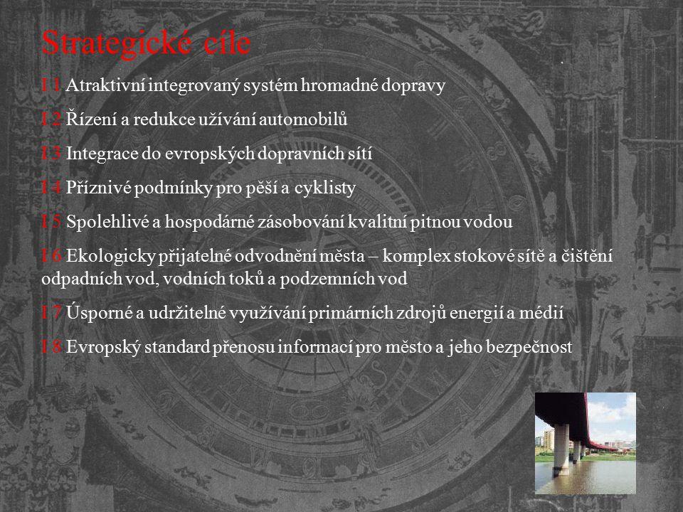 Strategické cíle I 1 Atraktivní integrovaný systém hromadné dopravy