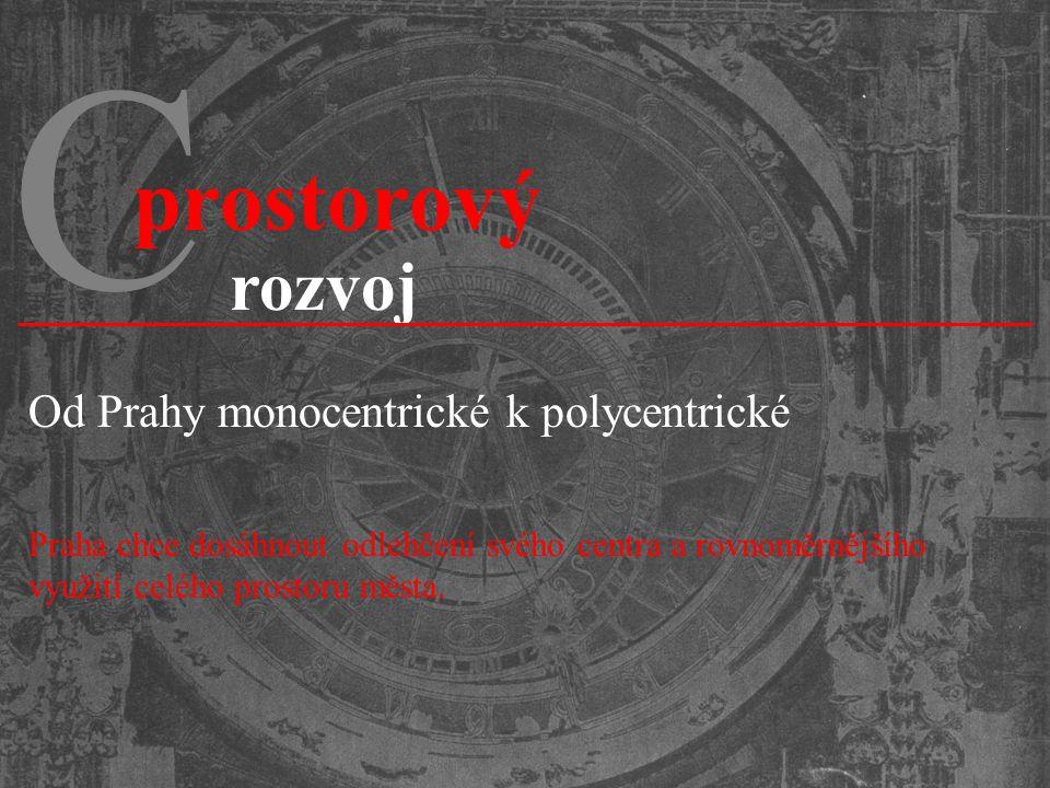 C prostorový rozvoj Od Prahy monocentrické k polycentrické