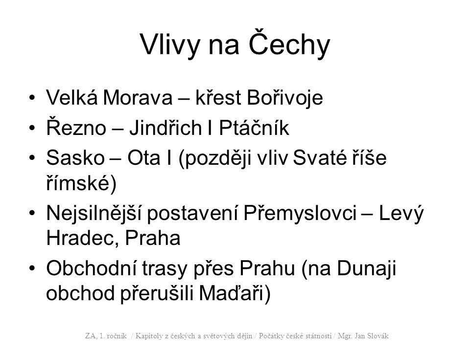 Vlivy na Čechy Velká Morava – křest Bořivoje
