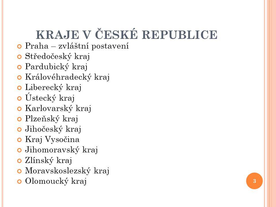 KRAJE V ČESKÉ REPUBLICE
