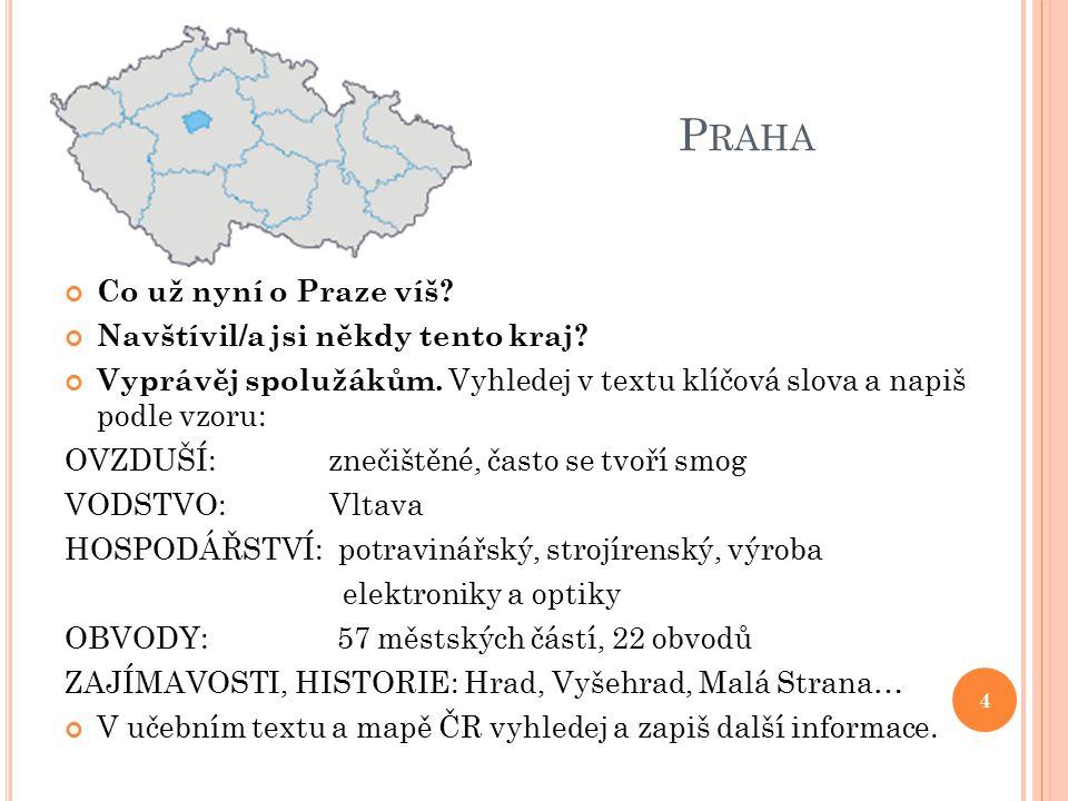 Praha Co už nyní o Praze víš Navštívil/a jsi někdy tento kraj