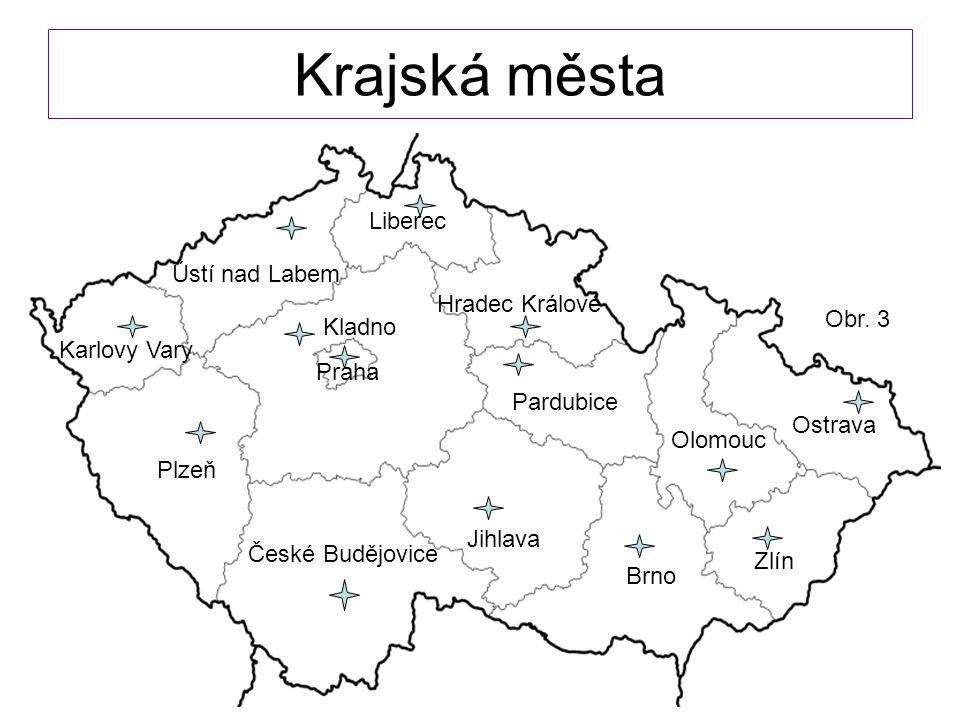 Krajská města Liberec Ústí nad Labem Hradec Králové Obr. 3 Kladno