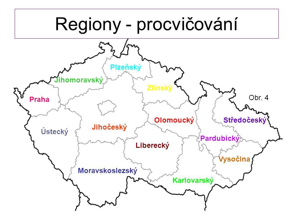 Regiony - procvičování