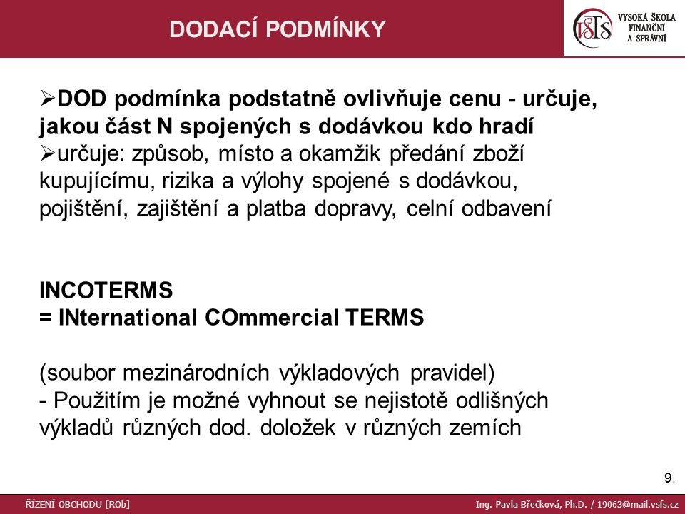 = INternational COmmercial TERMS