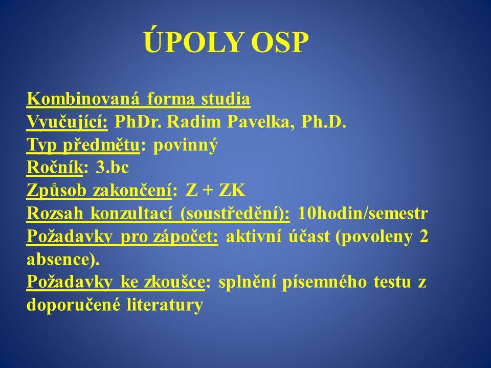 ÚPOLY OSP