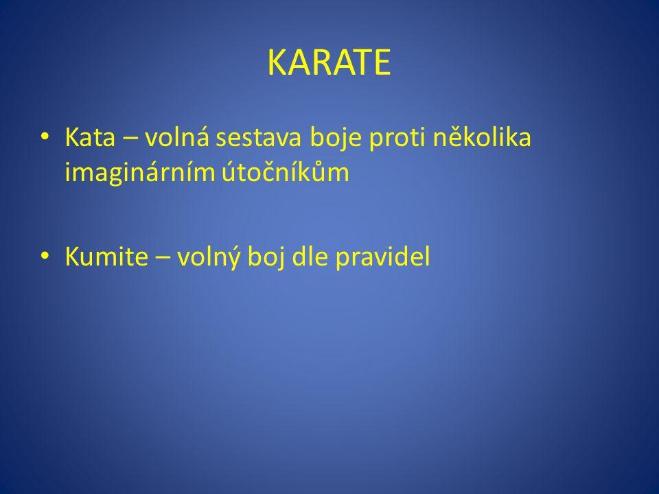 KARATE Kata – volná sestava boje proti několika imaginárním útočníkům