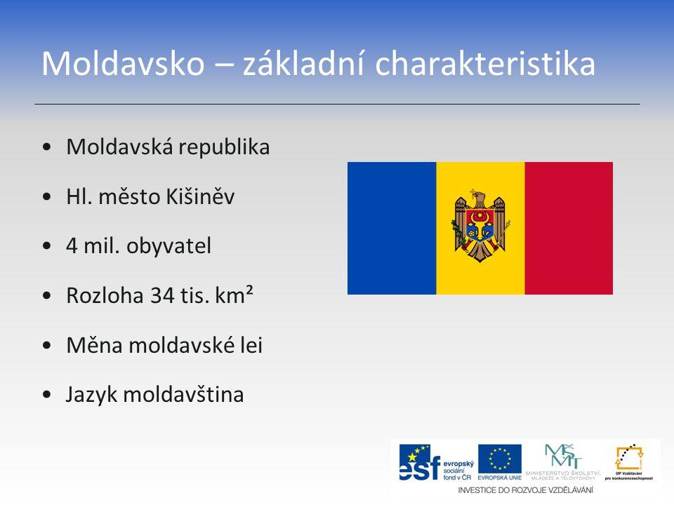 Moldavsko – základní charakteristika