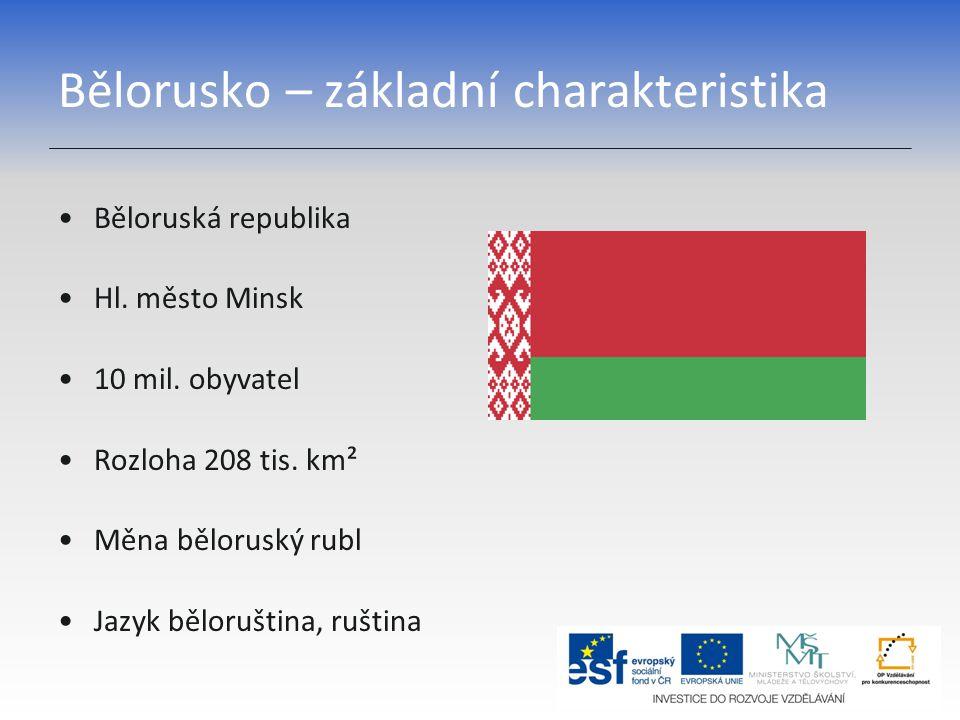 Bělorusko – základní charakteristika