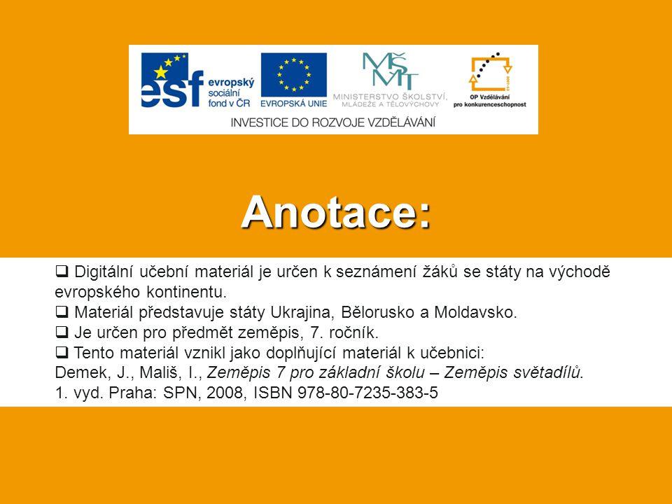 Anotace: Digitální učební materiál je určen k seznámení žáků se státy na východě evropského kontinentu.