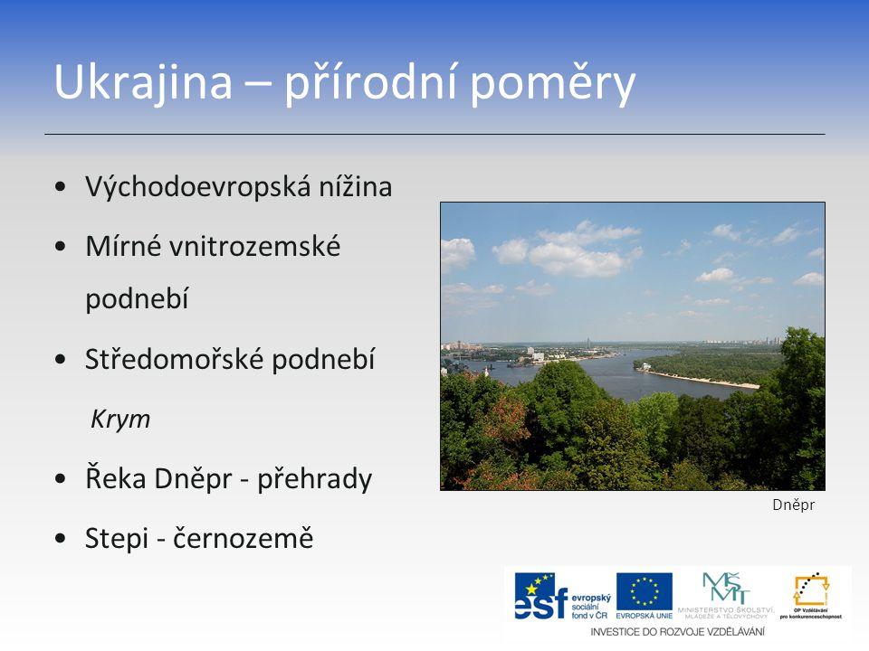 Ukrajina – přírodní poměry