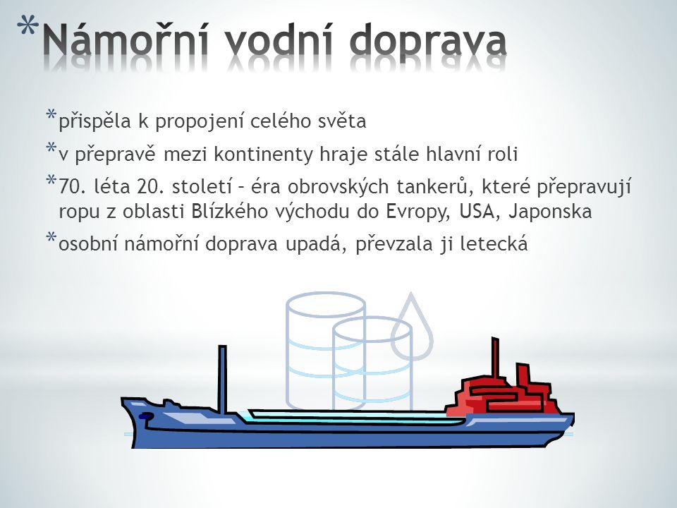 Námořní vodní doprava přispěla k propojení celého světa