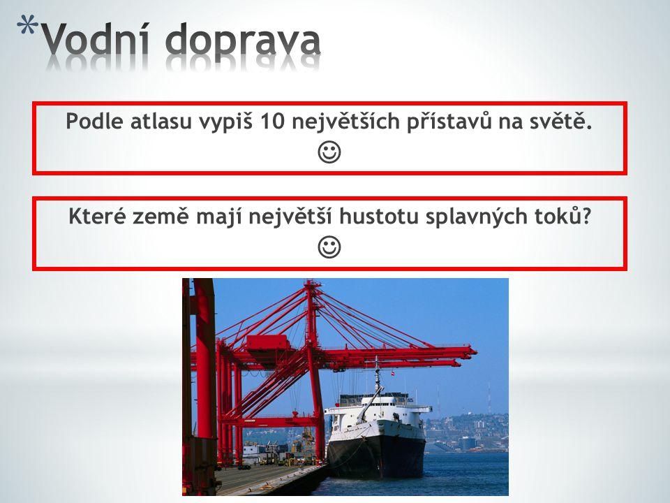 Vodní doprava   Podle atlasu vypiš 10 největších přístavů na světě.
