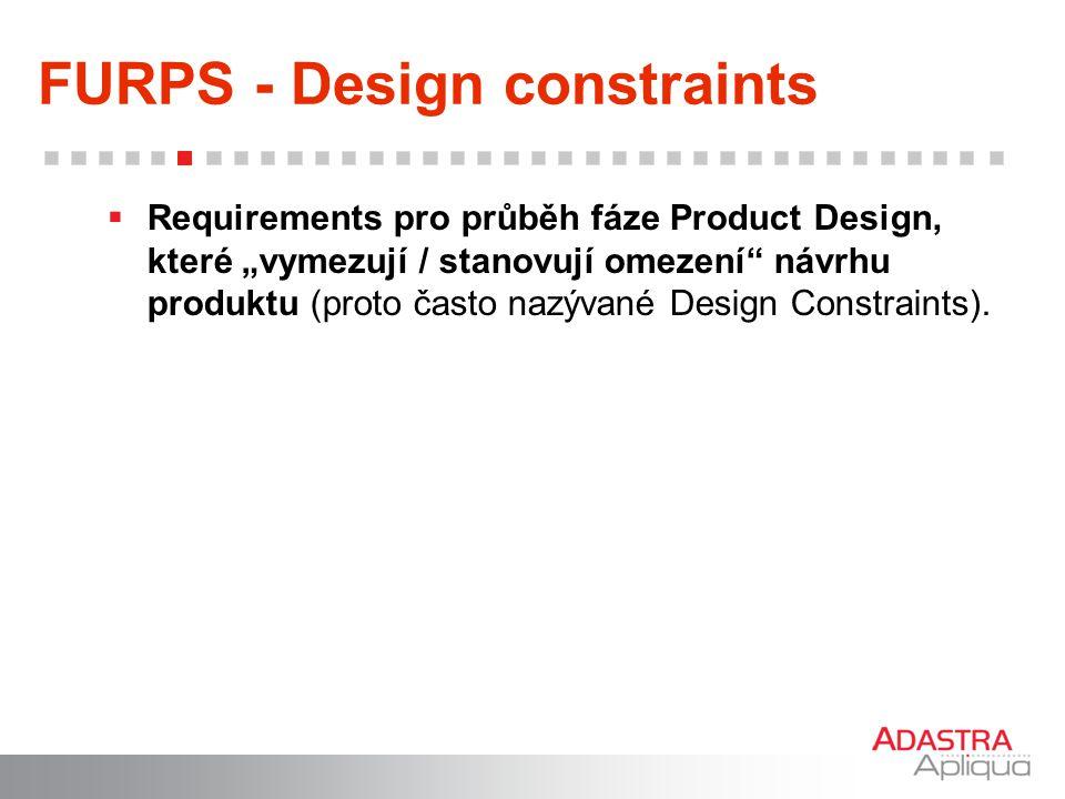 FURPS - Design constraints