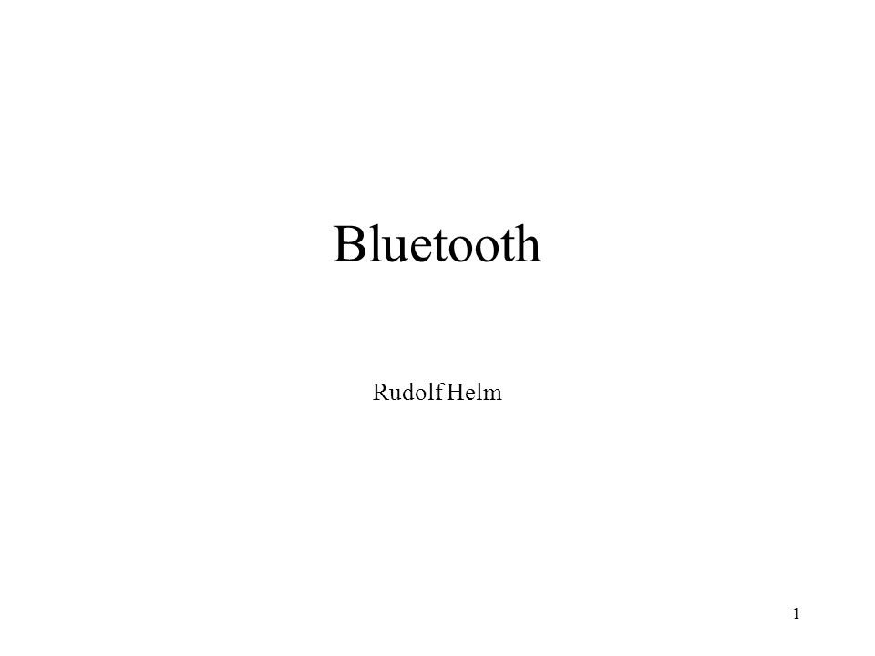 Bluetooth Rudolf Helm
