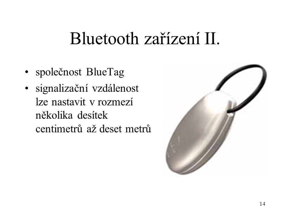 Bluetooth zařízení II. společnost BlueTag