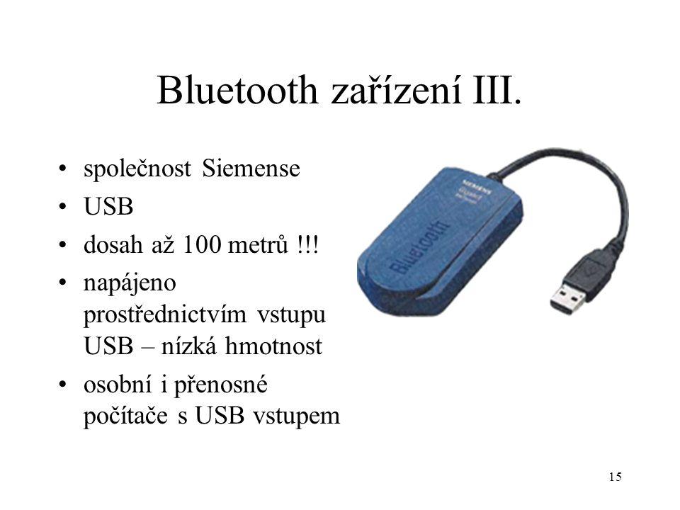 Bluetooth zařízení III.