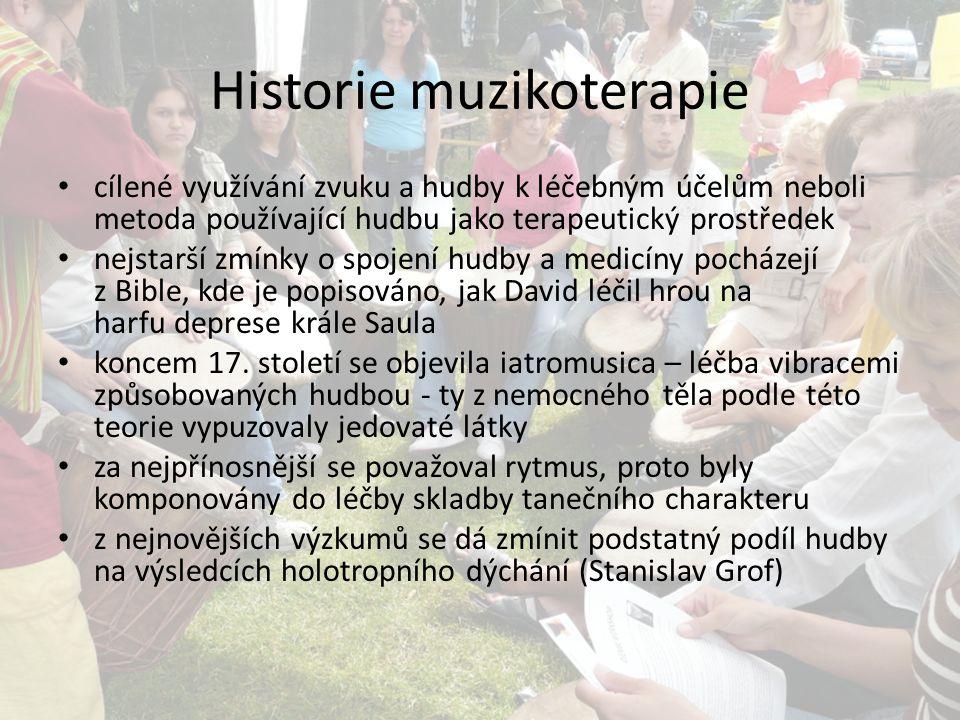 Historie muzikoterapie