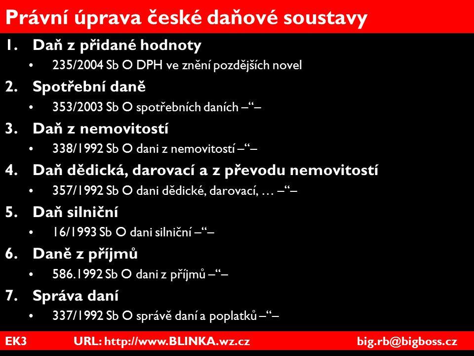 Právní úprava české daňové soustavy