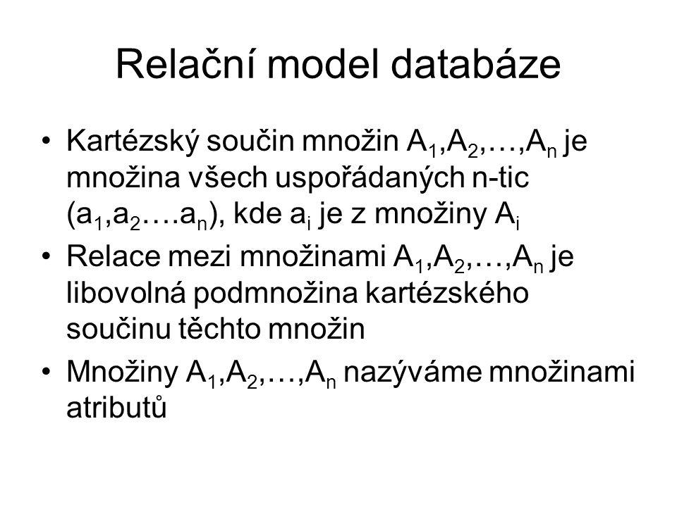 Relační model databáze