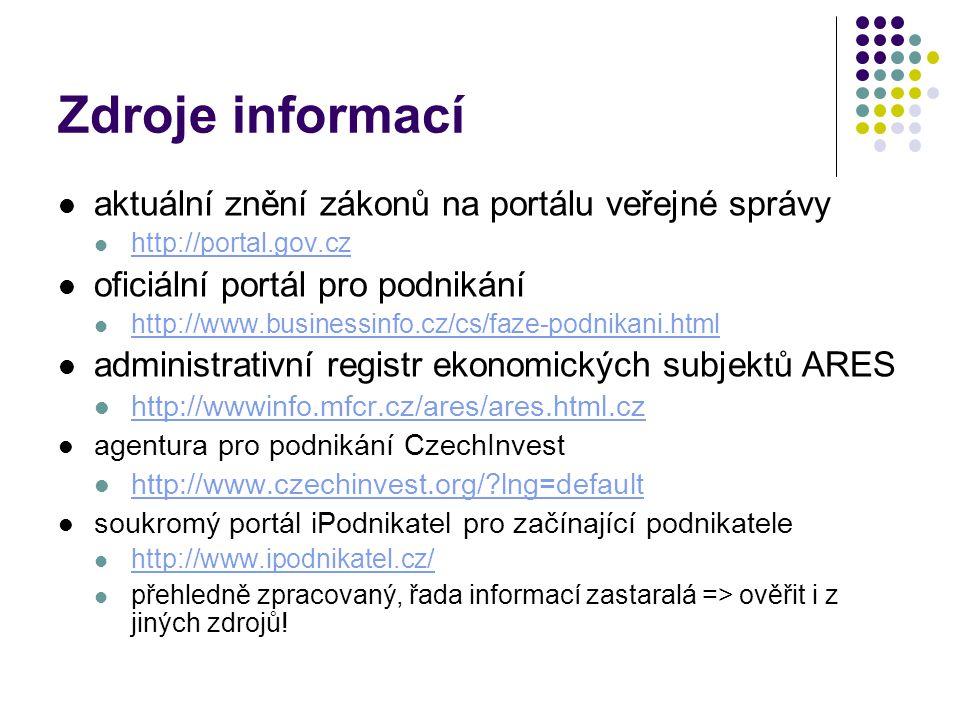 Zdroje informací aktuální znění zákonů na portálu veřejné správy