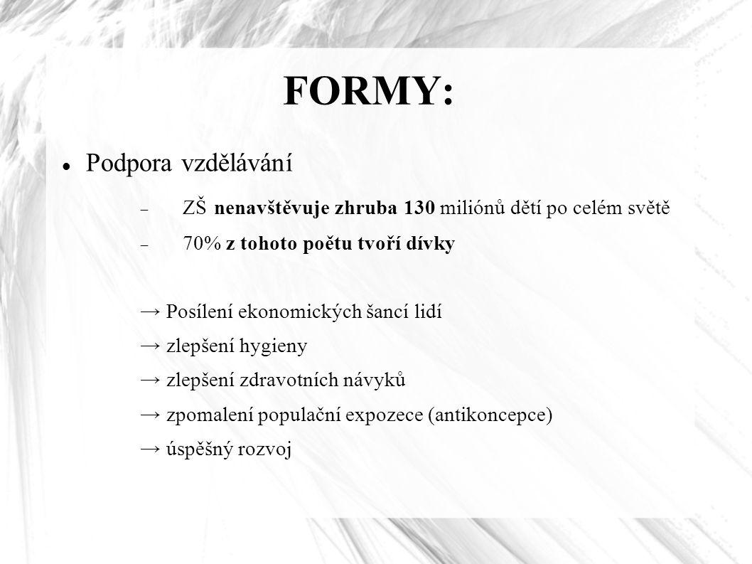FORMY: Podpora vzdělávání