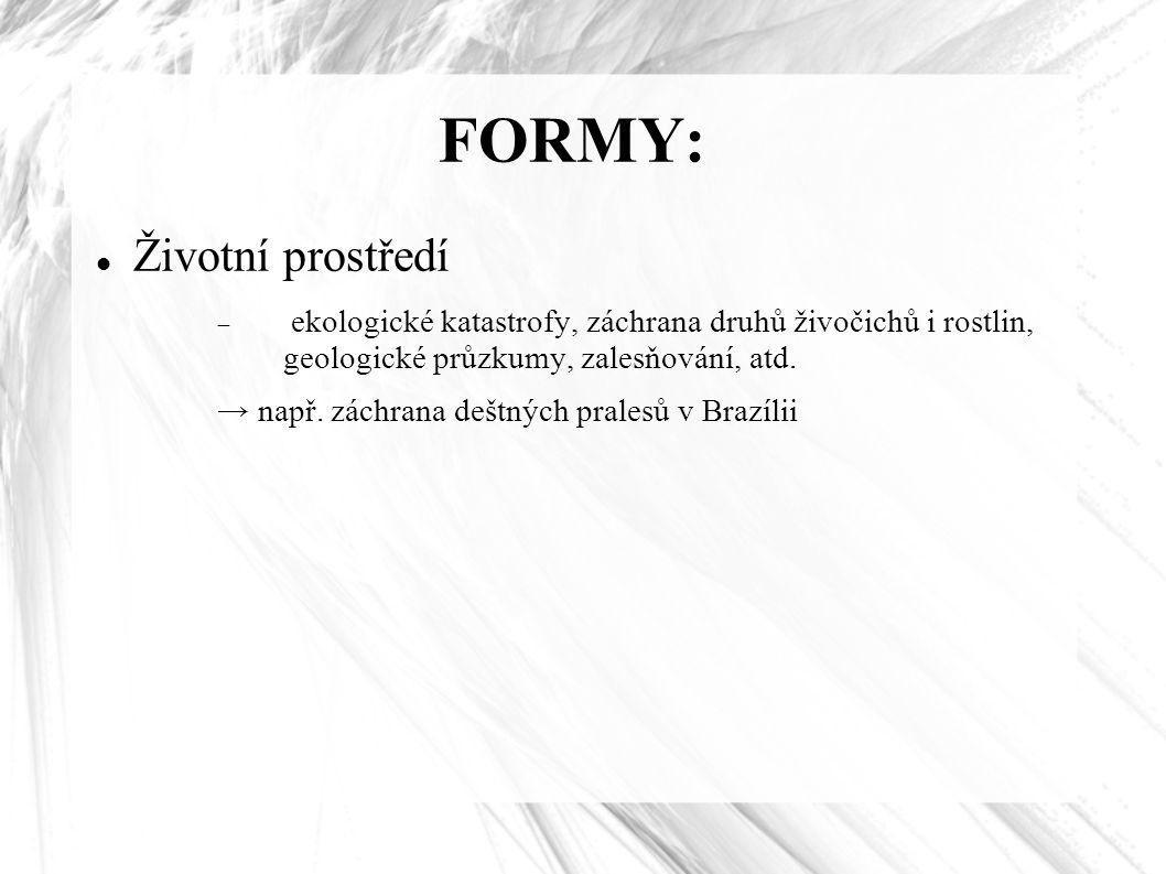 FORMY: Životní prostředí