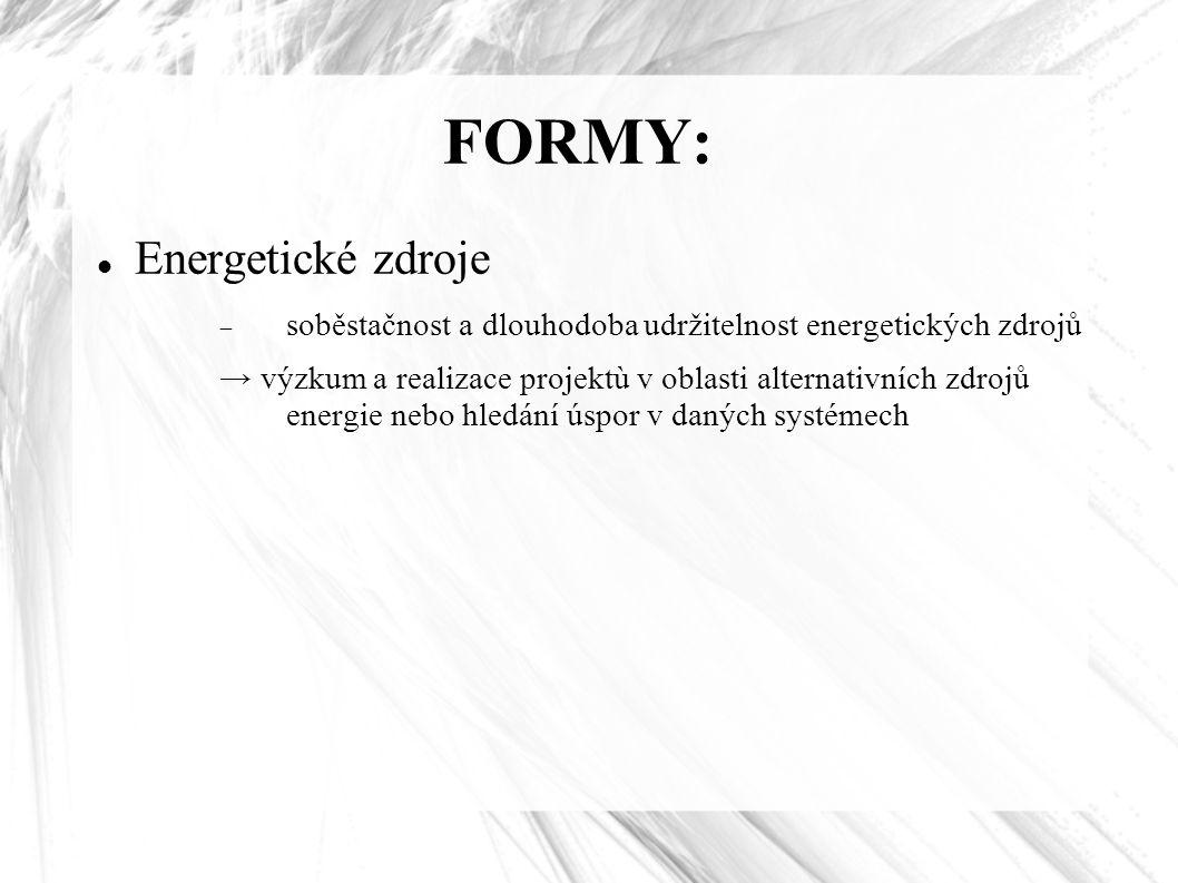 FORMY: Energetické zdroje