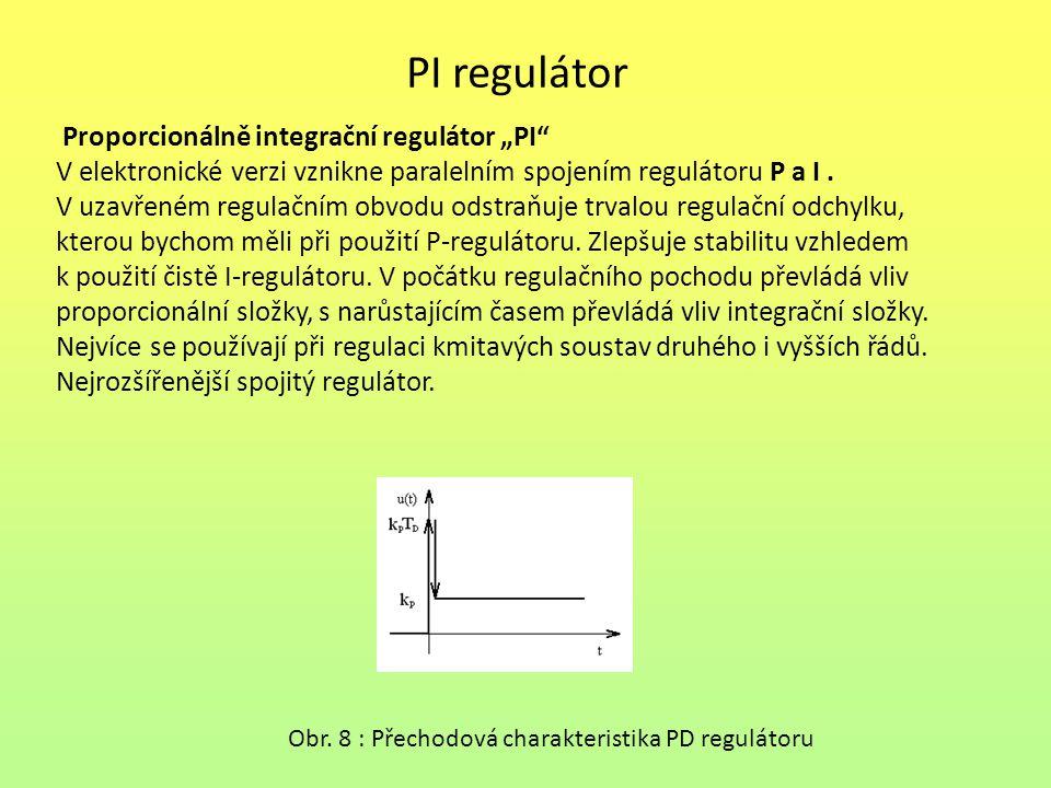 """PI regulátor Proporcionálně integrační regulátor """"PI"""