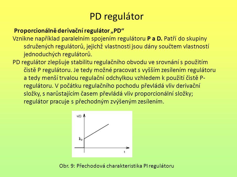 """PD regulátor Proporcionálně derivační regulátor """"PD"""