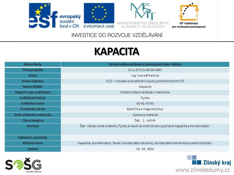KAPACITA www.zlinskedumy.cz Název školy